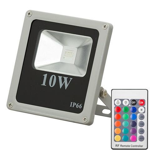 Proiector LED RGB 10W Slim cu telecomanda