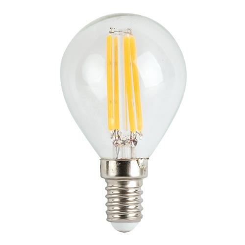 Bec LED E14 4W filament glob, lumina calda si rece