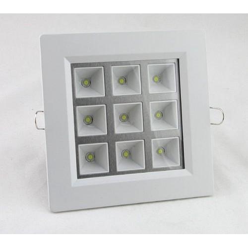 Spot LED 9W Patrat grila
